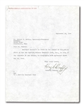 1949 HUGH DUFFY TYPED SIGNED LETTER ON BOSTON AMERICAN LEAGUE BASE BALL CLUB LETTERHEAD
