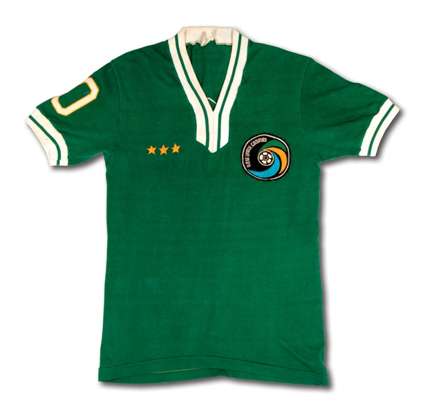 C. 1975 PELE NEW YORK COSMOS (NASL) MATCH WORN JERSEY (BRAZIL NATIONAL TEAM STAFF MEMBER LOA)