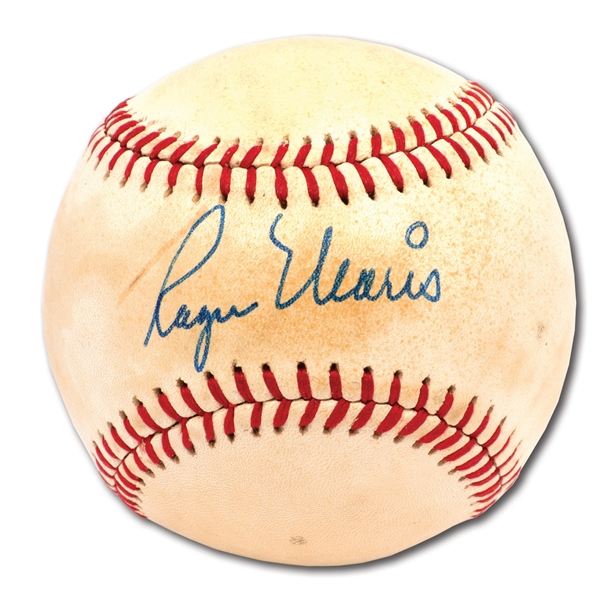 ROGER MARIS SINGLE SIGNED OAL (MacPHAIL) BASEBALL
