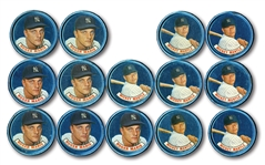 1965 OLD LONDON COINS CACHE OF (14) MICKEY MANTLE AND ROGER MARIS EXAMPLES