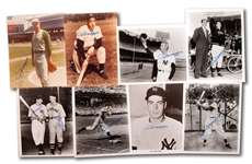LOT OF (8) JOE DIMAGGIO AUTOGRAPHED PHOTOS