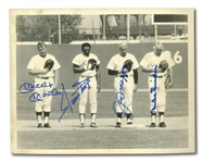 MICKEY MANTLE, WILLIE MAYS, JOE DIMAGGIO AND DUKE SNIDER AUTOGRAPHED PHOTO