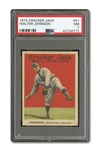 1915 CRACKER JACK #57 WALTER JOHNSON PSA NM 7