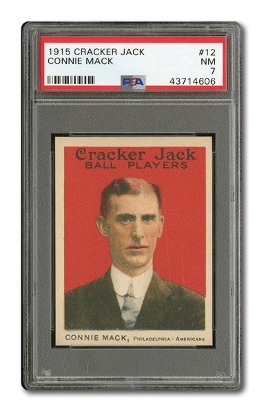 1915 CRACKER JACK #12 CONNIE MACK PSA NM 7