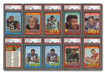 1971 TOPPS FOOTBALL COMPLETE SET (263) PLUS (325) DUPLICATES INCL. MULTIPLES OF HOFERS AND STARS (588 TOTAL)