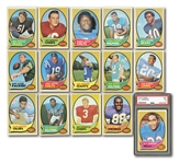 1970 TOPPS FOOTBALL PARTIAL SET (207/263) PLUS (202) DUPLICATES INCL. MULTIPLES OF HOFERS AND STARS (409 TOTAL)