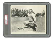 C. LATE 1940S YOGI BERRA ORIGINAL 8x10 PHOTOGRAPH USED FOR HIS 1950 BOWMAN #46 CARD (PSA/DNA TYPE I)