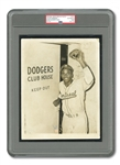 HISTORIC APRIL 10, 1947 JACKIE ROBINSON ORIGINAL 7x9 PRESS PHOTO (PSA/DNA TYPE I) TAKEN THE DAY BROOKLYN DODGERS PURCHASED HIS CONTRACT FROM MONTREAL ROYALS TO OFFICIALLY BREAK MLB COLOR BARRIER!