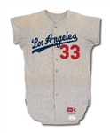 1967 JOE MOELLER LOS ANGELES DODGERS GAME WORN ROAD JERSEY