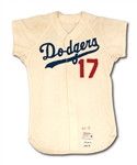 1964 WALLY MOON LOS ANGELES DODGERS GAME WORN HOME JERSEY