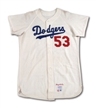 1966 DON DRYSDALE LOS ANGELES DODGERS GAME WORN HOME JERSEY (MEARS A10, NSM COLLECTION)