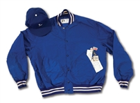 1980S DON DRYSDALE LOS ANGELES DODGERS COACHS WORN WINDBREAKER AND CAP (DRYSDALE COLLECTION)