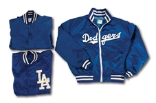 WALTER ALSTON TRIO OF 1960/70S LOS ANGELES DODGERS GAME WORN JACKETS (ALSTON COLLECTION)