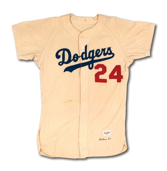 1961 WALTER ALSTON LOS ANGELES DODGERS GAME WORN HOME JERSEY