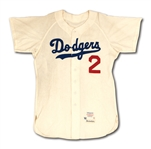 1962 LEO DUROCHER LOS ANGELES DODGERS (COACH) GAME WORN HOME JERSEY (MEARS A10)