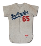 1964 GREG MULLEAVY LOS ANGELES DODGERS (COACH) GAME WORN ROAD #65 JERSEY