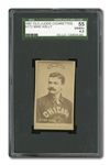 "1887-90 OLD JUDGE N172 MIKE ""KING"" KELLY (CHICAGO PORTRAIT, NO CAP) SGC 55 VG-EX+ 4.5 - EXTREMELY RARE VERSION!"