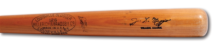 1947 JOE DiMAGGIO HILLERICH & BRADSBY PROFESSIONAL MODEL GAME ISSUED BAT (PSA/DNA LOA, PINSTRIPE DYNASTY COLLECTION)
