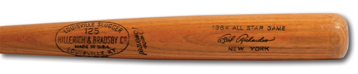 BOBBY RICHARDSON 1964 ALL-STAR GAME HILLERICH & BRADSBY PROFESSIONAL MODEL GAME ISSUED BAT (PINSTRIPE DYNASTY COLLECTION)