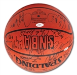 1996 NBA ALL-STARS TEAM SIGNED OFFICIAL 96 ALL-STAR GAME BASKETBALL (31 AUTOS.) INCL. MICHAEL JORDAN (UDA)