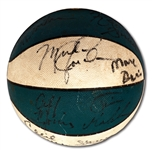 1983-84 NORTH CAROLINA TAR HEELS TEAM SIGNED BASKETBALL INCL. MICHAEL JORDAN (PSA/DNA)