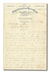 "1889 HARRY WRIGHT HANDWRITTEN & SIGNED 2-PAGE LETTER REQUESTING SPRING PRACTICE IN ST. AUGUSTINE - PHILLIES 1ST TO HAVE ""SPRING TRAINING"" IN FLORIDA"