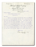 1909 FRED CLARKE TYPED SIGNED LETTER TO NL PRESIDENT JOHN HEYDLER DEFENDING HONUS WAGNER IN PROTESTED 4/23/09 GAME