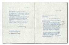 VIN SCULLYS FIRST BROOKLYN DODGERS CONTRACT (12/23/1949) SIGNED BY SCULLY AND BRANCH RICKEY THAT BEGAN HIS 67-YEAR BROADCAST CAREER!