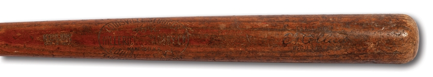 1921-25 EDDIE COLLINS HILLERICH & BRADSBY 40K PROFESSIONAL MODEL GAME USED BAT (MEARS)