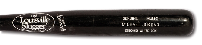 1994 MICHAEL JORDAN CHICAGO WHITE SOX GAME USED LOUISVILLE SLUGGER PROFESSIONAL MODEL M216 BAT (PSA/DNA GU 7.5)