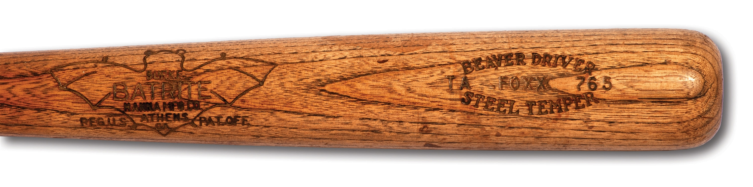 C. EARLY 1930S JIMMIE FOXX HANNA BATRITE PROFESSIONAL MODEL BAT IN OUTSTANDING CONDITION