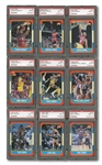 1986-87 FLEER BASKETBALL COMPLETE SET WITH ALL 132 CARDS (INCL. JORDAN ROOKIE) GRADED PSA MINT 9