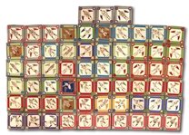1914 B18 FELT BLANKET NEAR SET (54/90) WITH (63) TOTAL INCL. TY COBB, WALTER JOHNSON & 5 OTHER HOFERS