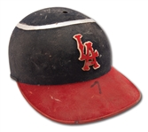 C. EARLY 1960S BUCK RODGERS LOS ANGELES ANGELS GAME USED BATTING HELMET (RARE STYLE W/ HALO)