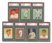 1933 GOUDEY LOT OF (13) INCL. #197 RICK FERRELL - ALL PSA GRADED EX 5 THROUGH NM 7