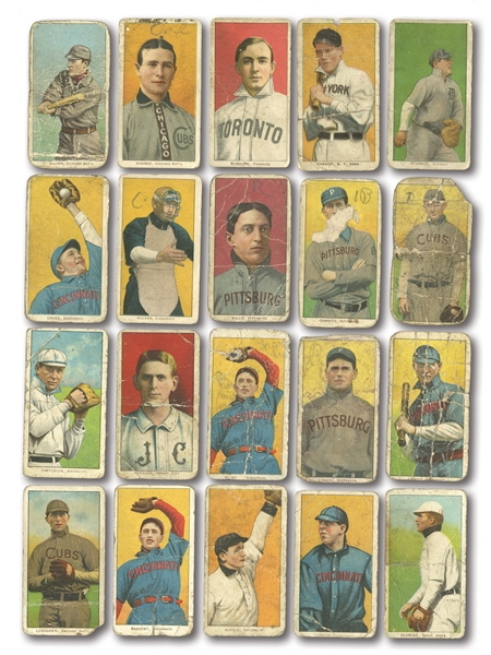 "1909-11 T206 LOT OF (39) INCL. FRANK CHANCE (RED PORTRAIT) WITH RARE ""EL PRINCIPE DE GALES"" BACK"