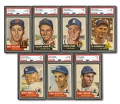 1953 TOPPS BASEBALL COMPLETE SET OF (274) WITH 7 PSA GRADED NOTABLES