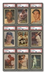 1957 TOPPS COMPLETE SET OF (407) WITH 9 PSA GRADED NOTABLES INCL. #95 MANTLE (NM 7) & B.ROBINSON ROOKIE (EX-MT+ 6.5)