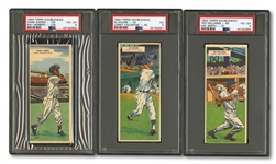 "1955 TOPPS DOUBLE HEADERS COMPLETE SET OF (66) WITH THREE PSA GRADED AND RARE ""UNPERFORATED"" JACKIE"