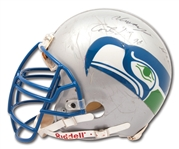 1995 CORTEZ KENNEDY AUTOGRAPHED SEATTLE SEAHAWKS GAME USED HELMET - POUNDED & EASILY PHOTO-MATCHED!
