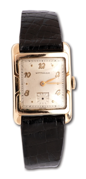 "RED HOLZMANS 3/9/1950 ROCHESTER ROYALS ""RED HOLZMAN NITE"" WITTNAUER WATCH (HOLZMAN COLLECTION)"