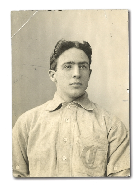 C. 1906-13 JOE TINKER ORIGINAL PHOTOGRAPH BY CARL HORNER - IMAGE USED FOR TINKERS T206 PORTRAIT CARD