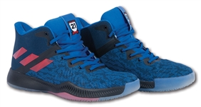 2017-18 JOEL EMBIID 76ERS GAME WORN ADIDAS THE PROCESS SIGNATURE MODEL SHOES