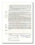 1957 MICKEY MANTLE SIGNED NEW YORK YANKEES UNIFORM PLAYER'S CONTRACT (MANTLE ESTATE)