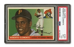1955 TOPPS #164 ROBERTO CLEMENTE ROOKIE PSA EX+ 5.5