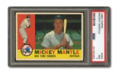 1960 TOPPS #350 MICKEY MANTLE PSA NM 7