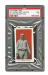 "1910 E98 ""SET OF 30"" CY YOUNG (RED) PSA NM 7 - BLACK SWAMP FIND"