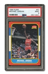 1986 FLEER #57 MICHAEL JORDAN ROOKIE PSA MINT 9