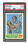 1968 TOPPS BOB GRIESE ROOKIE PSA MINT 9 (ONLY TWO HIGHER)