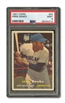 1957 TOPPS #55 ERNIE BANKS PSA MINT 9 (JUST ONE HIGHER)